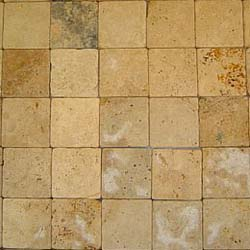 yellow tumbled travertine mosaic tile