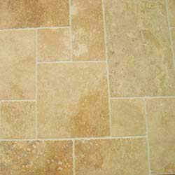 Ephesus Travertine Tumbled Opus Pattern